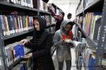 Students in the library at the American University of Afghanistan, in Kabul. It is Afghanistan's only private, not-for-profit, non-partisan and co-educational university. Opened in 2006, it now has more than 1,700 full and part-time students. Photo UNAMA / Fardin Waezi.