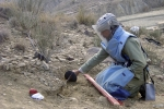 An Afghan de-miner in action. The Mine Action Programme of Afghanistan (MAPA) has cleared 38,297 anti-personnel mines, 419 anti-tank mines, 957,362 Explosive Remnants of War (ERW) and 65,361,363 square meters of land across the country from January to June this year. Afghanistan has committed itself to clear all of its landmines by 2013, a benchmark set by the Ottawa Convention to which Afghanistan is a party.