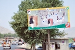 An election billboard on the Jalalabad-Asadabad highway.