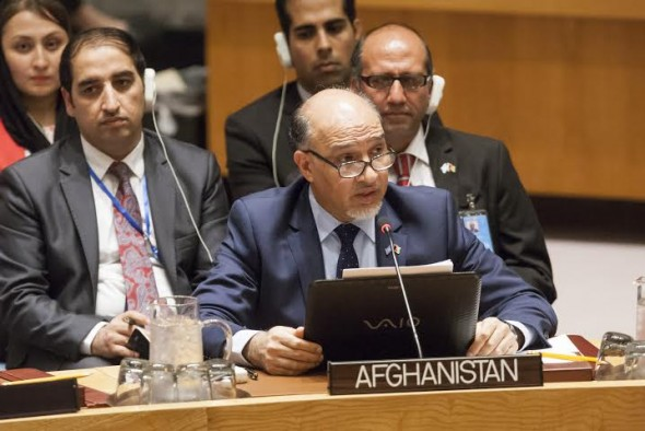 H.E. Mahmoud Saikal, Permanent Representative of Afghanistan to the United Nations makes his statement re situation in Afghanistan.